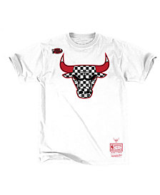 Mitchell & Ness Men's Chicago Bulls Checkerboard Hook T-Shirt