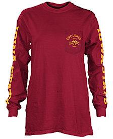Pressbox Women's Iowa State Cyclones Long Sleeve Pocket T-Shirt
