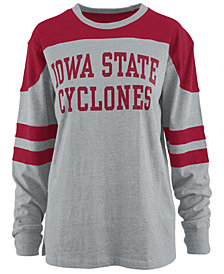 Pressbox Women's Iowa State Cyclones Appliqué Boyfriend Long Sleeve T-Shirt