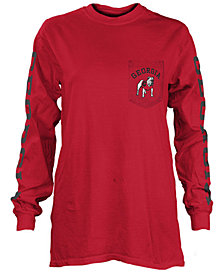 Pressbox Women's Georgia Bulldogs Long Sleeve Pocket T-Shirt