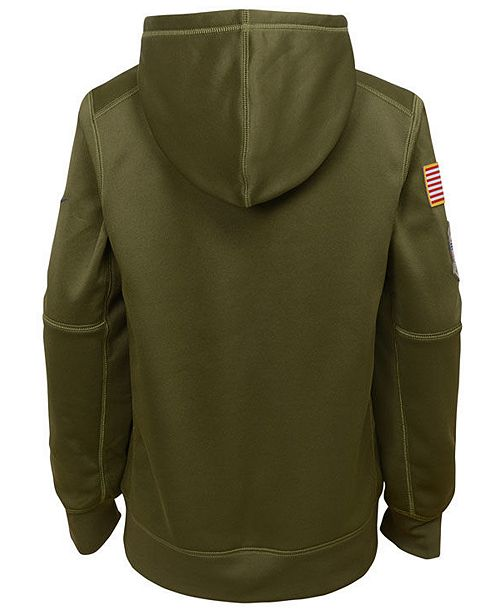 finest selection 3c05f 65561 Nike Green Bay Packers Salute To Service Therma Hoodie, Big ...