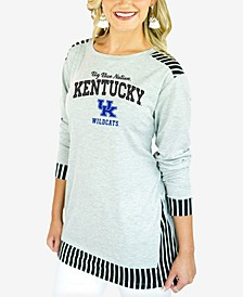 Women's Kentucky Wildcats Striped Panel Long Sleeve T-Shirt