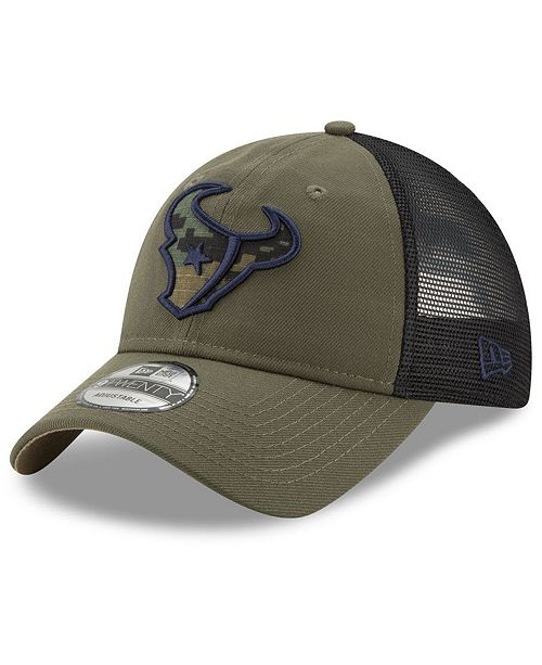 d5cb380e65a94 ... New Era Houston Texans Camo Service Patch 9TWENTY Trucker Cap ...