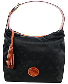 Dooney & Bourke Oakland Raiders Embossed Nylon Paige Sac