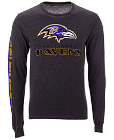 Authentic NFL Apparel Men's Baltimore Ravens Streak Route Long Sleeve T-Shirt