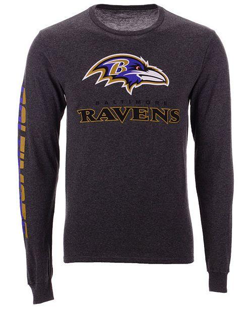 b65a86340 ... Authentic NFL Apparel Men's Baltimore Ravens Streak Route Long Sleeve  T- ...