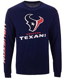 Authentic NFL Apparel Men's Houston Texans Streak Route Long Sleeve T-Shirt
