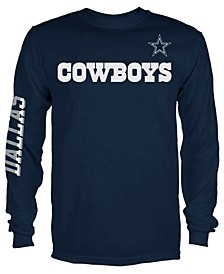 Men's Dallas Cowboys Streak Route Long Sleeve T-Shirt