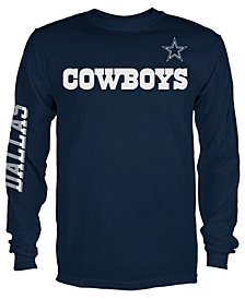 Authentic NFL Apparel Men's Dallas Cowboys Streak Route Long Sleeve T-Shirt