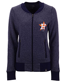 New Era Women's Houston Astros French Terry Full-Zip Jacket