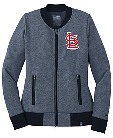 New Era Women's St. Louis Cardinals French Terry Full-Zip Jacket