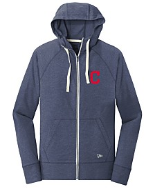 New Era Cleveland Indians Triblend Fleece Full-Zip Sweatshirt