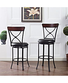 Pruitt Swivel Counter Stool With Cushion