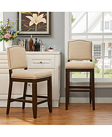 Bryson Bar Stool With Oatmeal Cushion