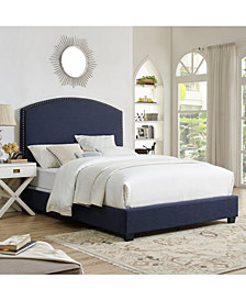 Cassie Curved Upholstered Queen Bedset