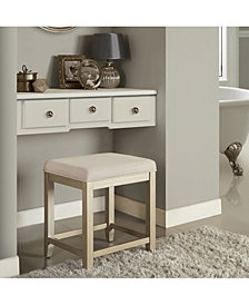 Vista Vanity Stool With Linen Seat
