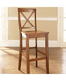 "X-Back Bar Stool With 30"" Seat Height (Set Of 2)"