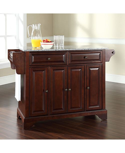 Crosley Lafayette Solid Granite Top Kitchen Island