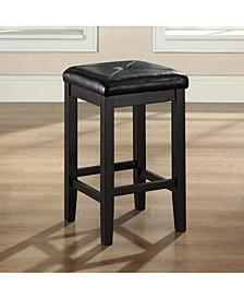 "Upholstered Square Seat Bar Stool With 24"" Seat Height (Set Of 2)"