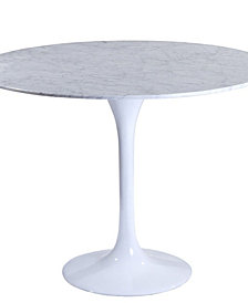 "Lippa 36"" Round Marble Dining Table"