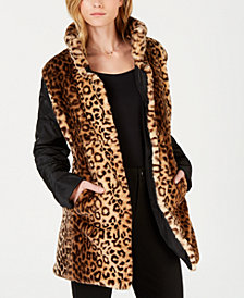 Maison Jules Faux-Fur Reversible Jacket, Created for Macy's