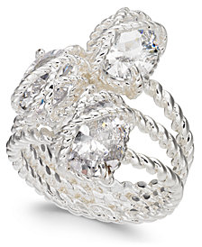 Charter Club Silver-Tone Three-Stone Wrap Ring, Created for Macy's