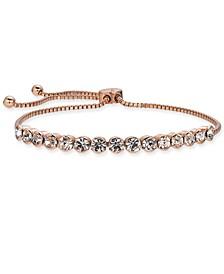 Rose Gold-Tone Crystal Slider Bracelet, Created for Macy's