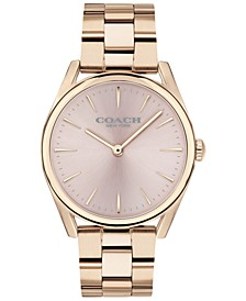 Women's Preston Carnation Rose Gold-Tone Bracelet Watch 34mm