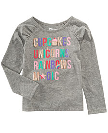 Epic Threads Toddler Girls Graphic-Print Long-Sleeve T-Shirt, Created for Macy's