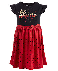 Epic Threads Little Girls T-Shirt Bodice Dress, Created for Macy's