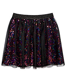 Epic Threads Big Girls Sequin Mesh Skirt, Created for Macy's