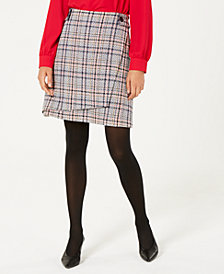 Bar III Asymmetrical Tweed Skirt, Created for Macy's