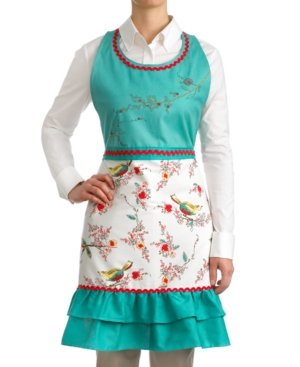 Old Fashioned Aprons & Patterns Lenox Embroidered Chirp Apron $36.00 AT vintagedancer.com