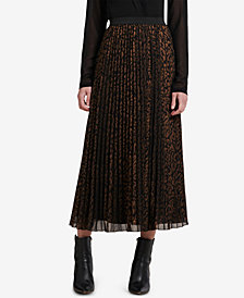 DKNY Pleated Midi Skirt, Created for Macy's