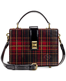 Patricia Nash Tartan Plaid Tauria Box Satchel