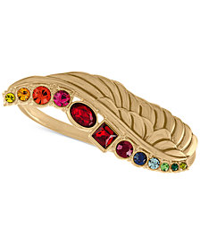 RACHEL Rachel Roy Gold-Tone Crystal Wing Ring