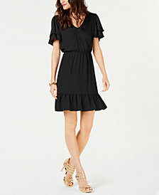 MICHAEL Michael Kors Embellished Ruffle Dress, in Regular and Petite Sizes