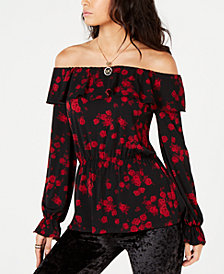 MICHAEL Michael Kors Floral Off-The-Shoulder Top in Regular & Petite Sizes