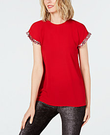 MICHAEL Michael Kors Sequin-Trim Top