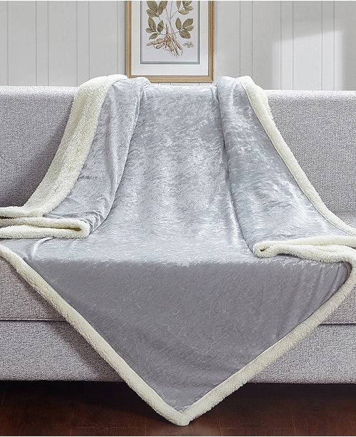 Velvet Crush Sherpa Throw Blanket For Couch
