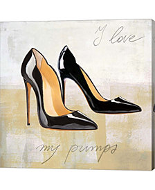 I Love my Pumps by Michelle Clair Canvas Art
