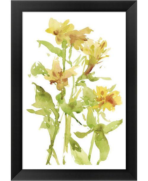 Metaverse Watercolor Lilies II By Melissa Wang Framed Art