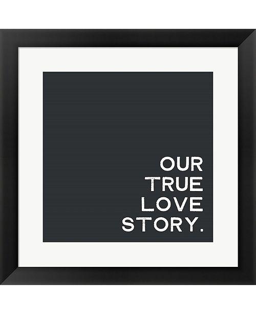 Metaverse Our True Love Story By Linda Woods Framed Art