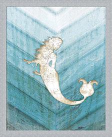 Coastal Mermaid IV by Jennifer Pugh Framed Art