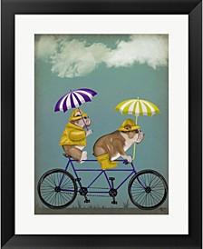 English Bulldog Tand By Fab Funky Framed Art