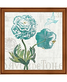 Floral Messages On 1 By Sue Schlabach Framed Art