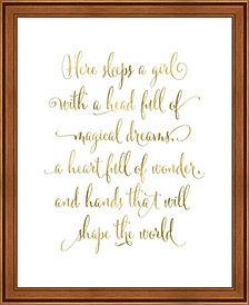 Here Sleeps a Girl by Tara Moss Framed Art
