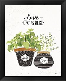 Fine Herbs V By Janelle Penner Framed Art
