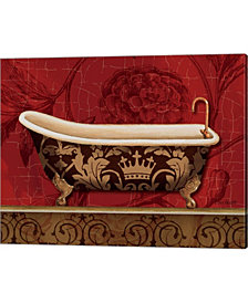 Royal Red Bath II by Lisa Audit Canvas Art