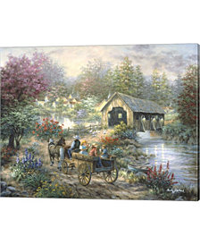 Merriment At Covered by Nicky Boehme Canvas Art